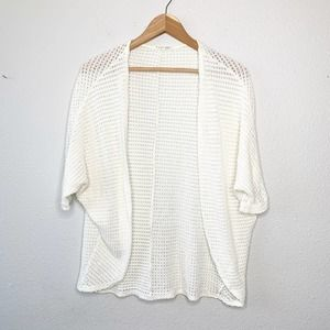 Rolla Coster White Open Front Knit Cardigan S